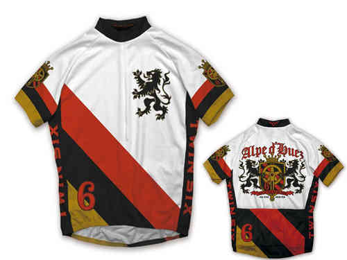 Twin Six Brew Pub White/Red/Black Full Zip Cycling Jersey Medium