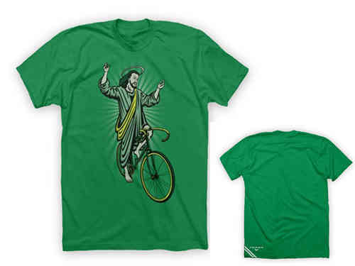 Twin Six Jesus Tee Shirt Green