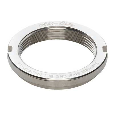 All-City Track Lockring Mirror Polished Stainless