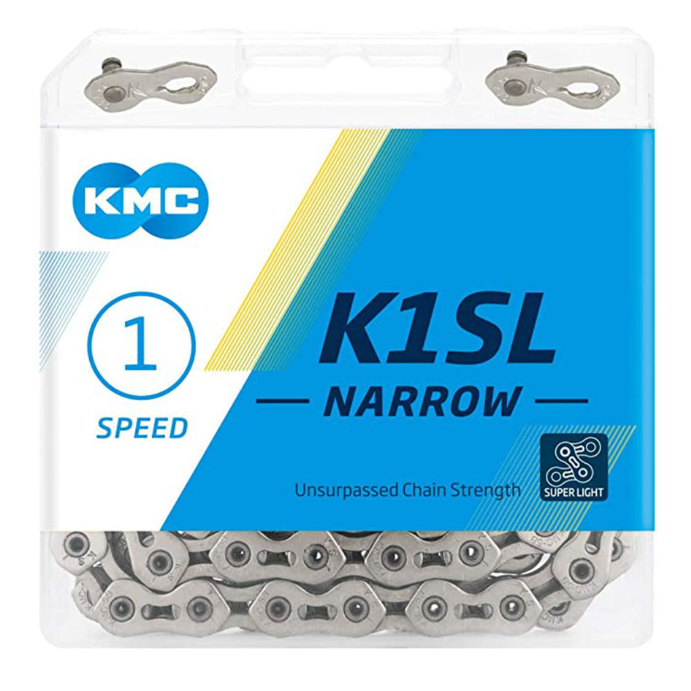"KMC K1SL SuperLite Kool Narrow Single Speed Chain 3/32"" Silver"