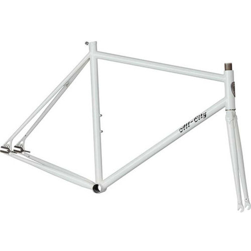 All-City Big Block Singlespeed Track Frameset White 52cm