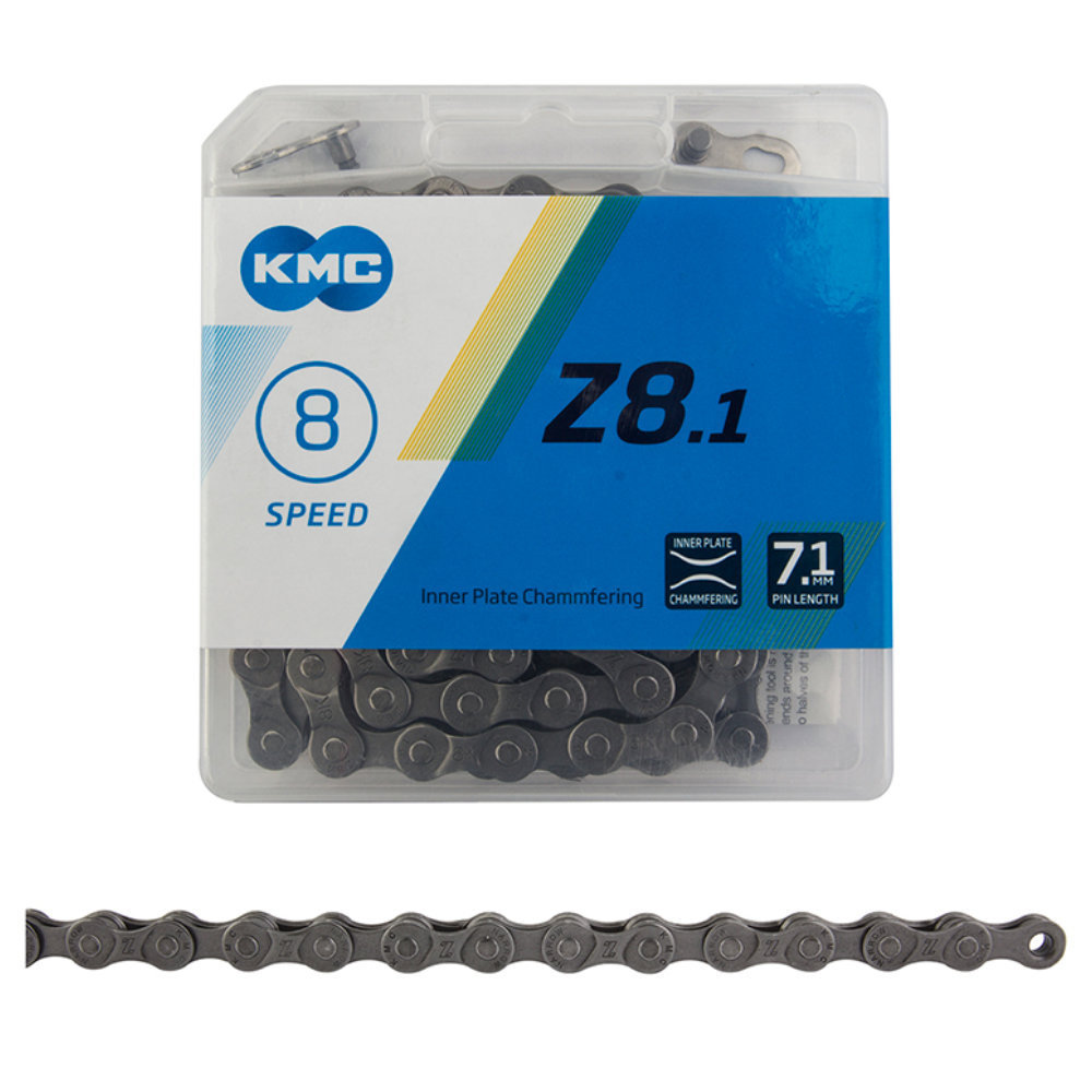 KMC Z8.1  5/6/7/8-Speed Grey Chain 7.1mm