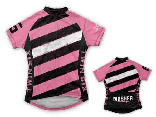 "Twin Six ""The Masher"" Pink Women's Cycling Jersey"