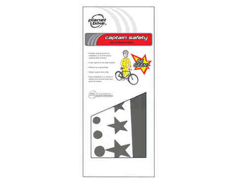 Planet Bike Captain Safety Super Fun Reflective Sticker Set