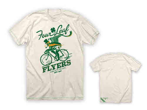 Twin Six Four Leaves Flyers Tee Shirt Cream