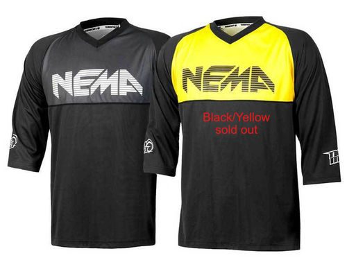 Nema Pusher 3/4 Jersey Black/Grey