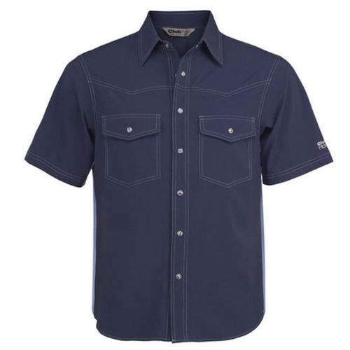 Club Ride Go West Short Sleeve Bike Shirt Indigo