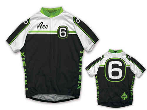 b0fee1a82 Twin Six Ace Black White Full Zip Cycling Jersey