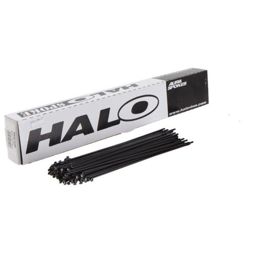 Halo Aura 2mm straight Gauge Spoke Black