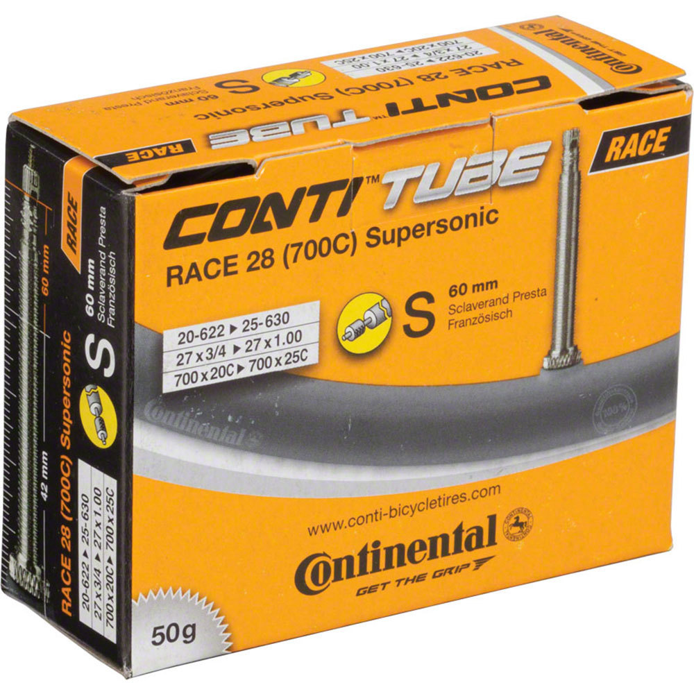 Continental Inner Tube Supersonic 700 x 18/25c Presta Valve 60mm 50 grams
