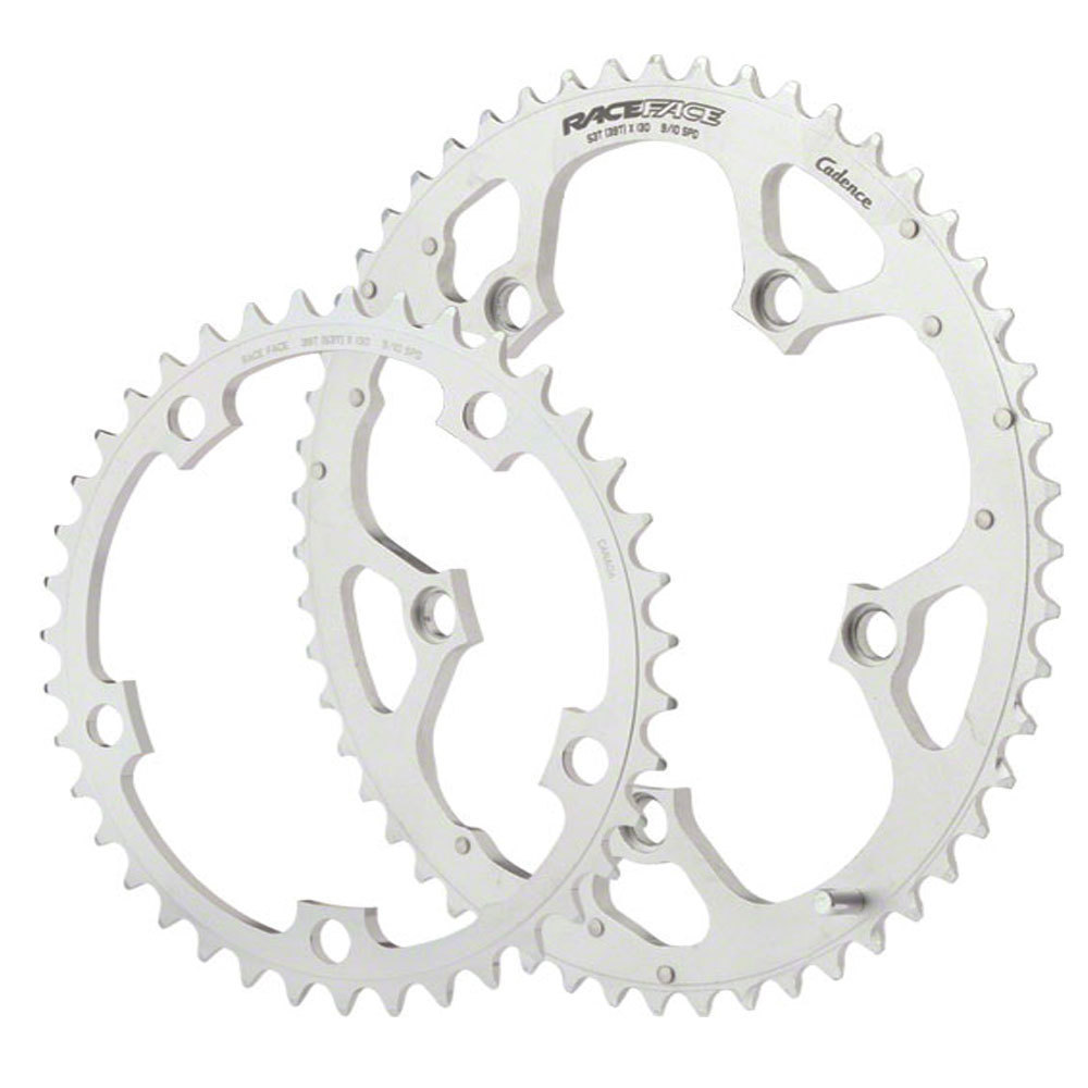 Race Face Cadence 53/39T Chainring Set 130BCD Silver