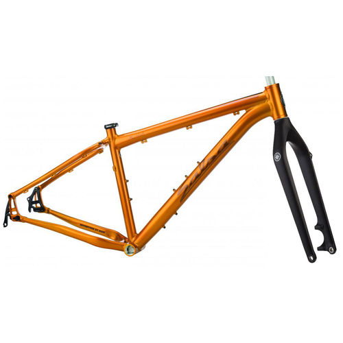 Salsa Mukluk Fat Bike Frameset Medium Gold with Makwa Carbon Fork