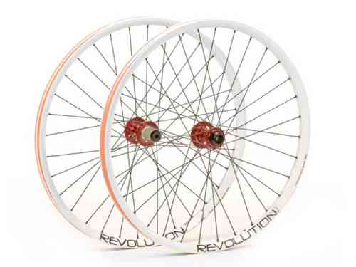 "Transition Revolution 26"" Wheelset 28mm White"