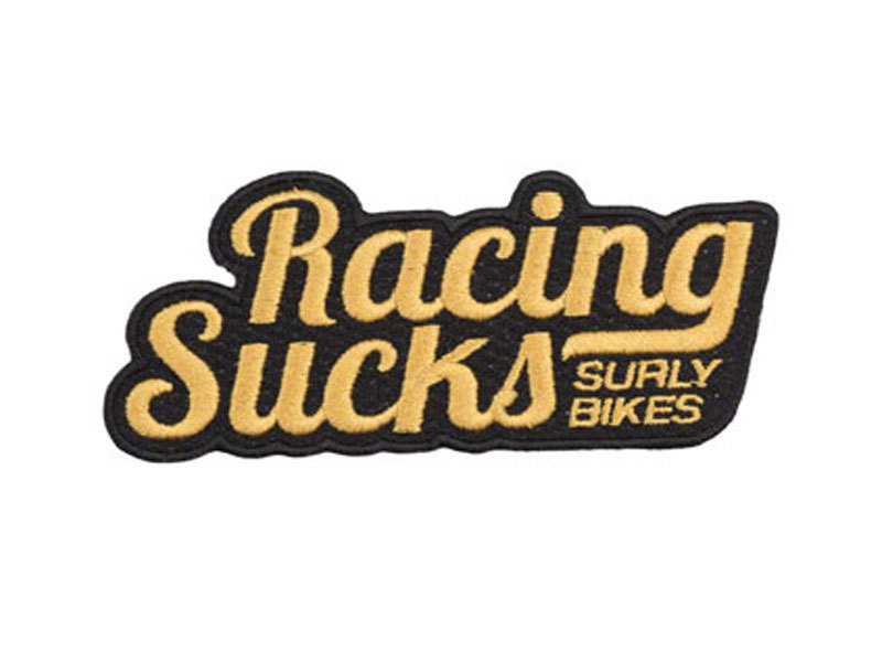 Surly Surly Racing Sucks Patch Gold/Black
