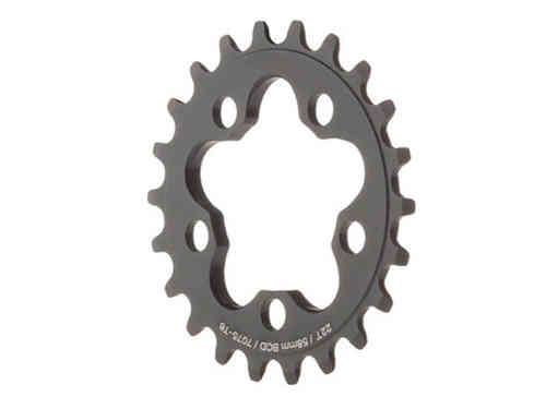 Dimension 22T Inner Chainring Black 58BCD