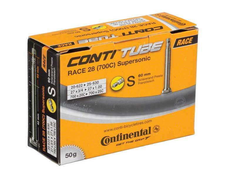Continental Inner Tube Supersonic 700 x 18/25c Presta Valve 36mm 50 grams