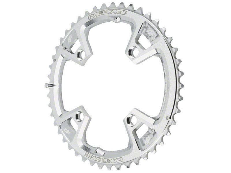 Race Face Race 9-Spd 44T 104BCD Outer Chainring Silver