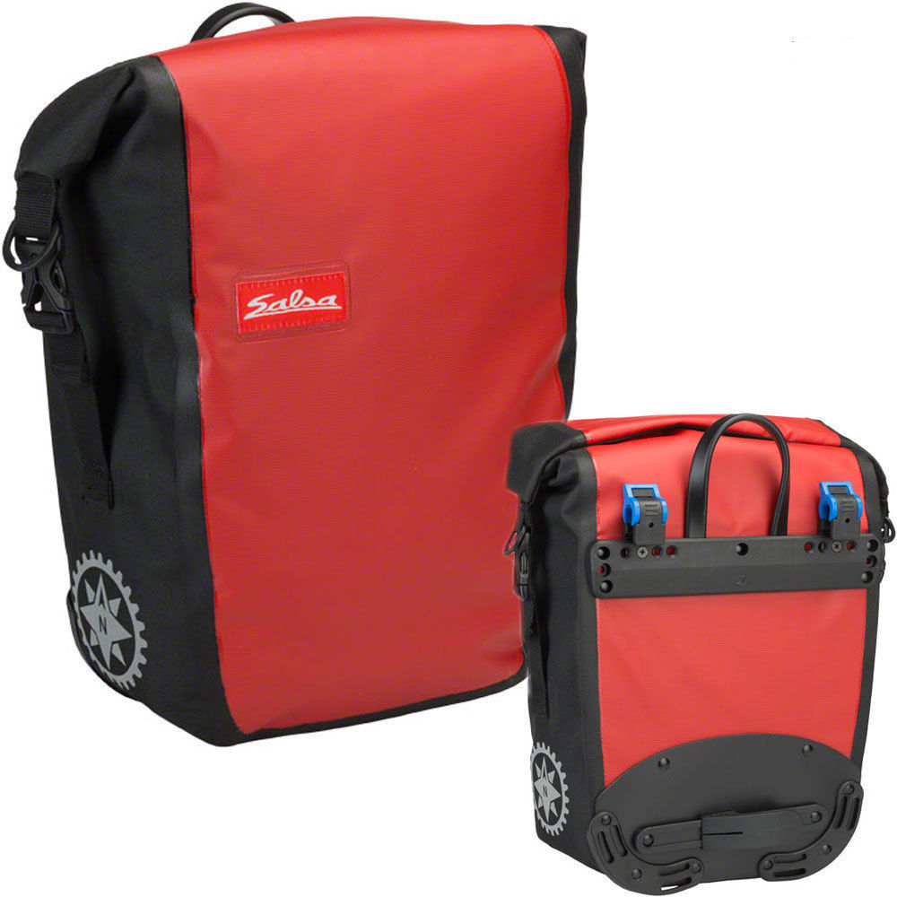 Salsa Single Touring Pannier Red 14L - only 1 left