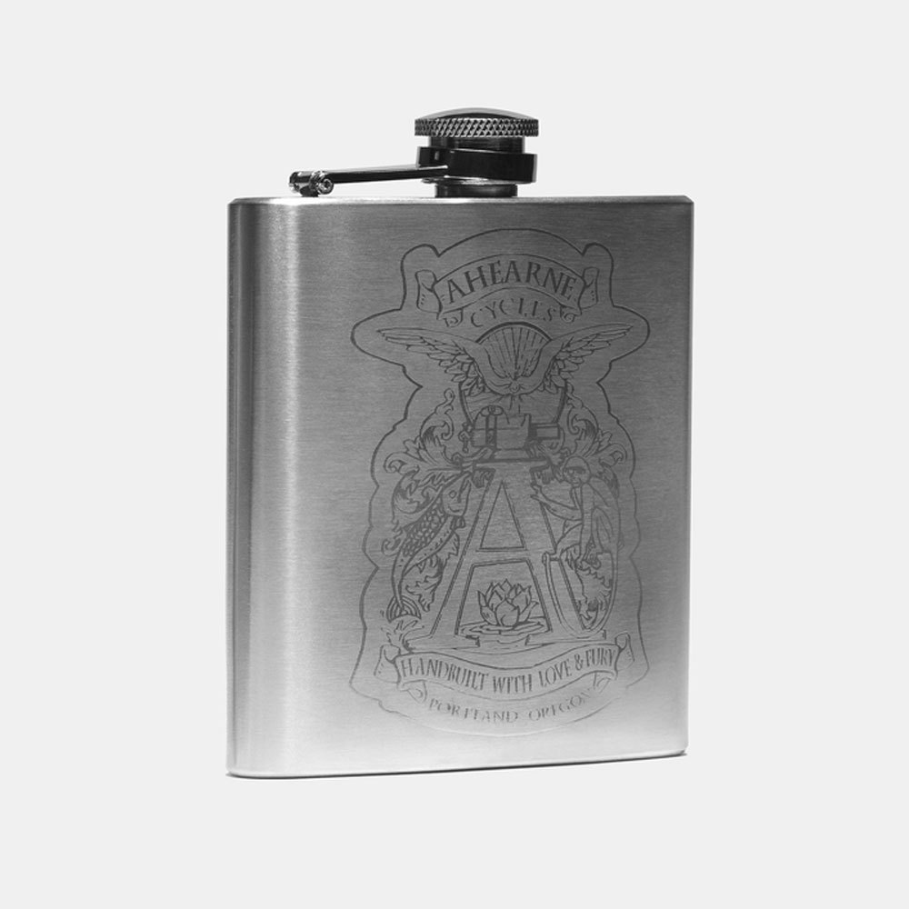 Ahearne Cycles Spaceman Stainless Steel Flask