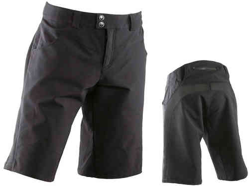 Race Face Indie Short Black (White Logo)