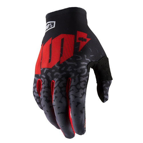 100% Celium 2 Glove Black/Red