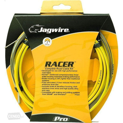 Jagwire Racer Complete Shift and Brake Cable Kit Road Yellow