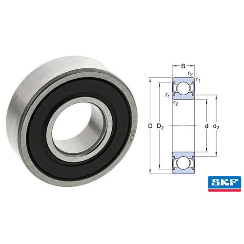 SKF Deep Groove Bearing 608 2RS 8x22x7mm