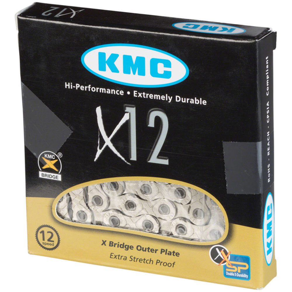 KMC X12 12-Speed Chain 126 Links Silver