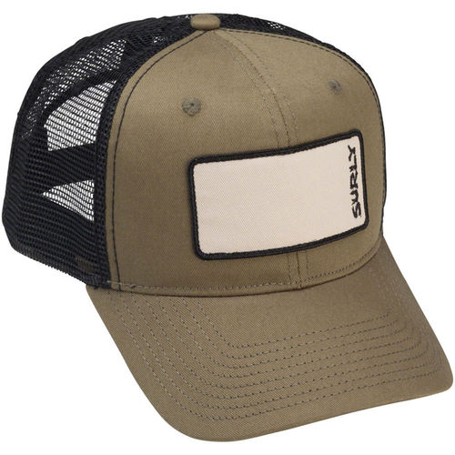 Surly Name Patch Trucker Hat Olive Green