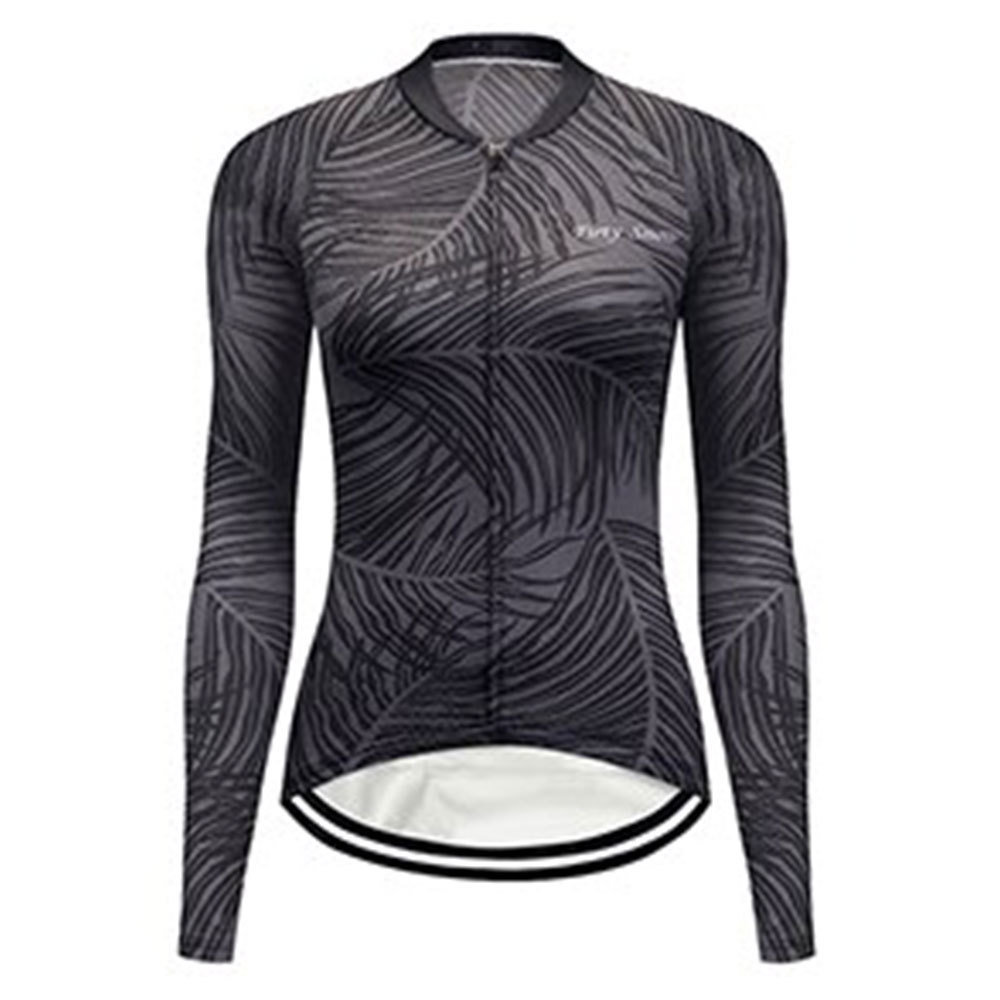 Bike 3Sixty Women's Long Sleeve Cycling Jersey Grey/Black