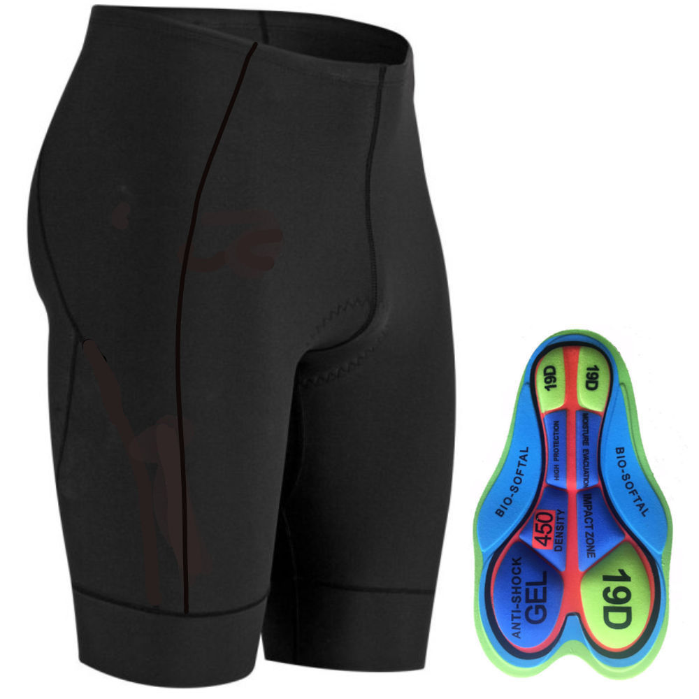 Bike 3Sixty 6-Panel Race Cycling Short with 3D Pad