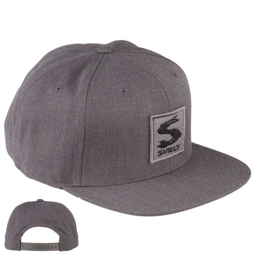 Surly Gray Area Snap Back Hat Dark Grey