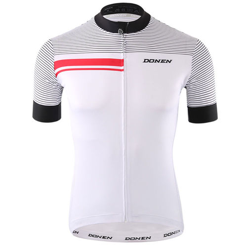 Bike 3Sixty Short Sleeve Cycling Jersey White/Black/Red