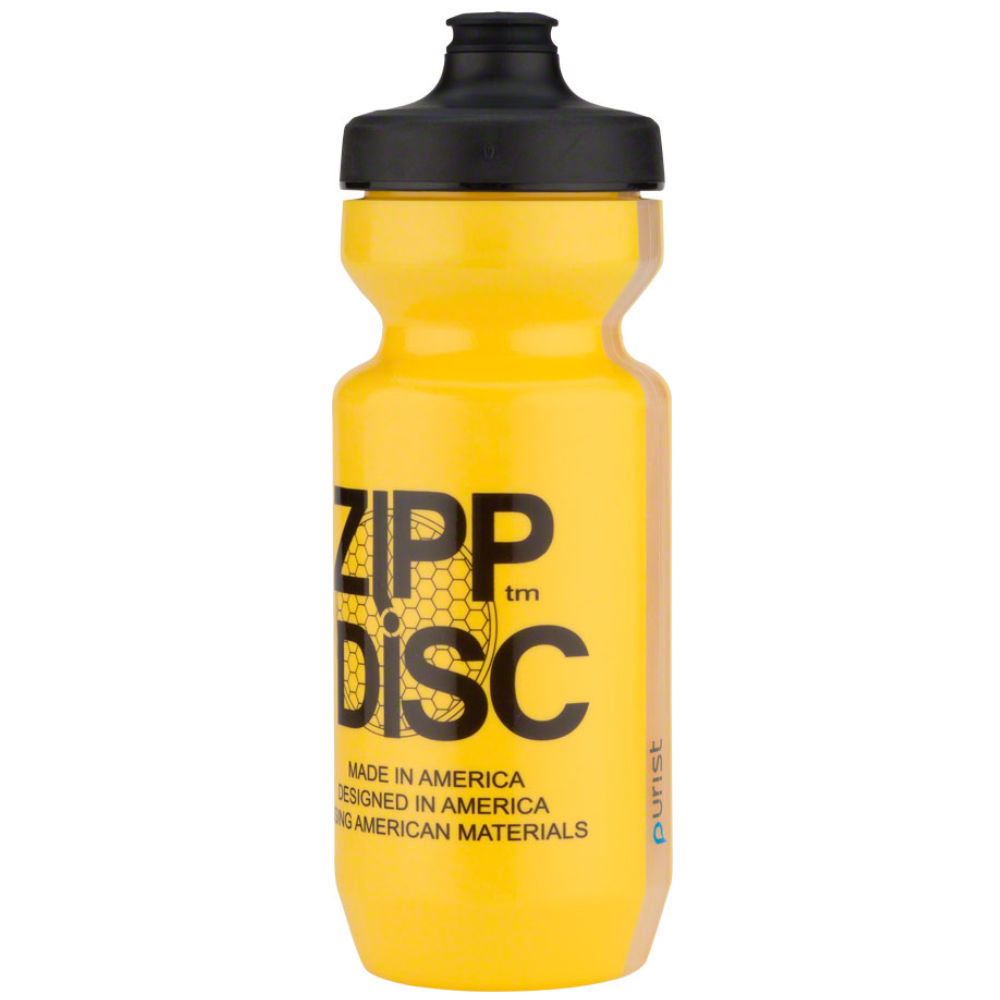ZIPP Speed Weaponry Water Bottle: Purist with Watergate Disc Yellow